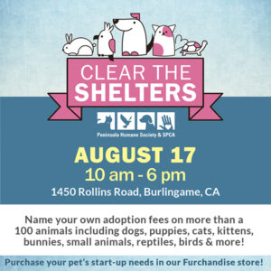 Clear the Shelters @ Peninsula Humane Society & SPCA