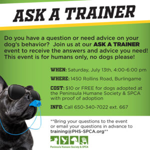 Ask a Trainer @ Peninsula Humane Society & SPCA | Burlingame | California | United States